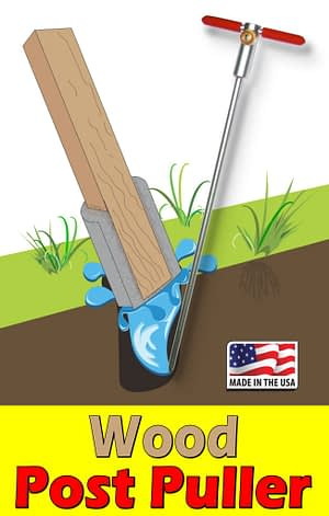Remove Fence Posts Set in Concrete with the Wood Post Puller