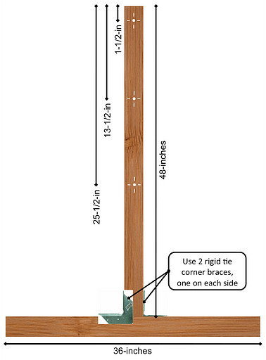 Dimensions of ladderball frame